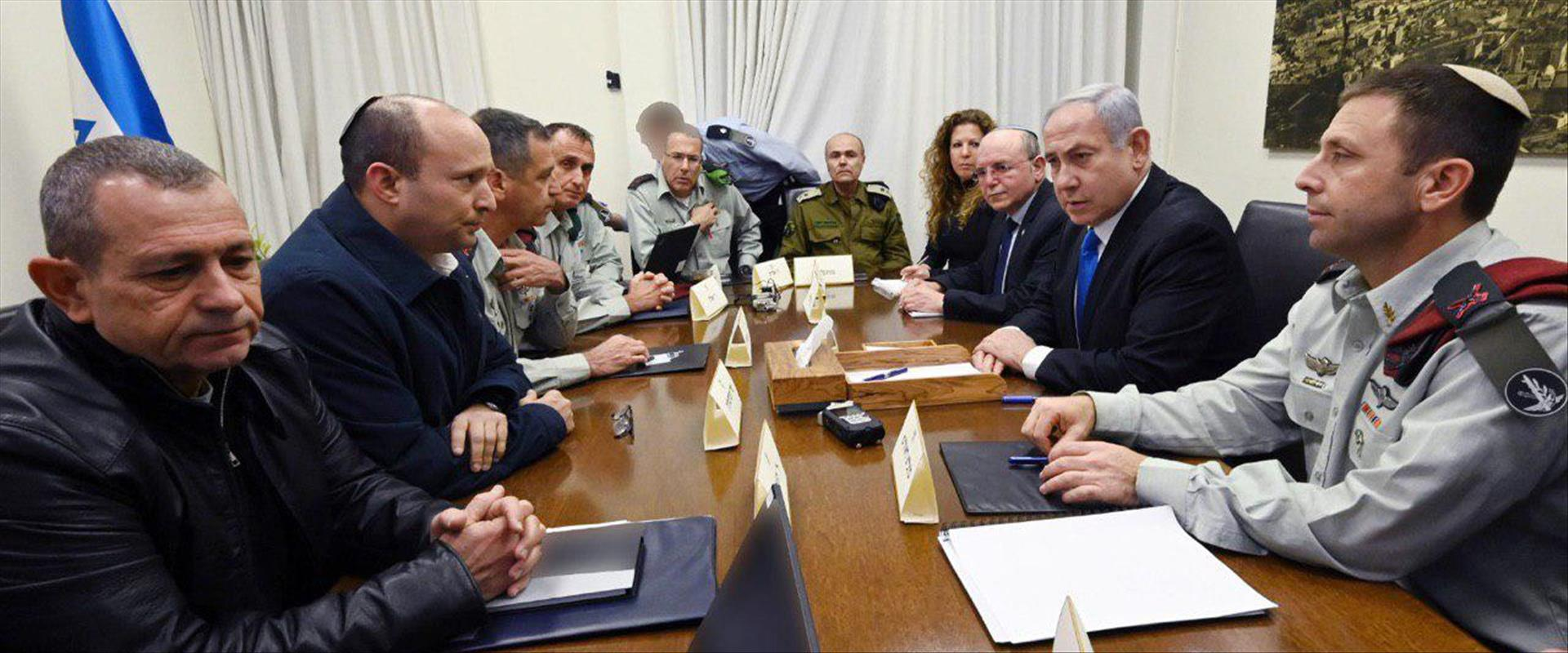 נתניהו ובנט בהתייעצות עם ראשי מערכת הביטחון