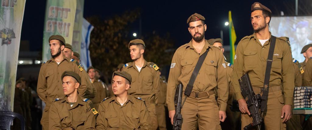 חיילי גולני בטקס ההשבעה, הערב