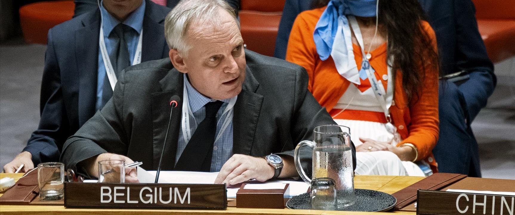 """נציג בלגיה באו""""ם"""