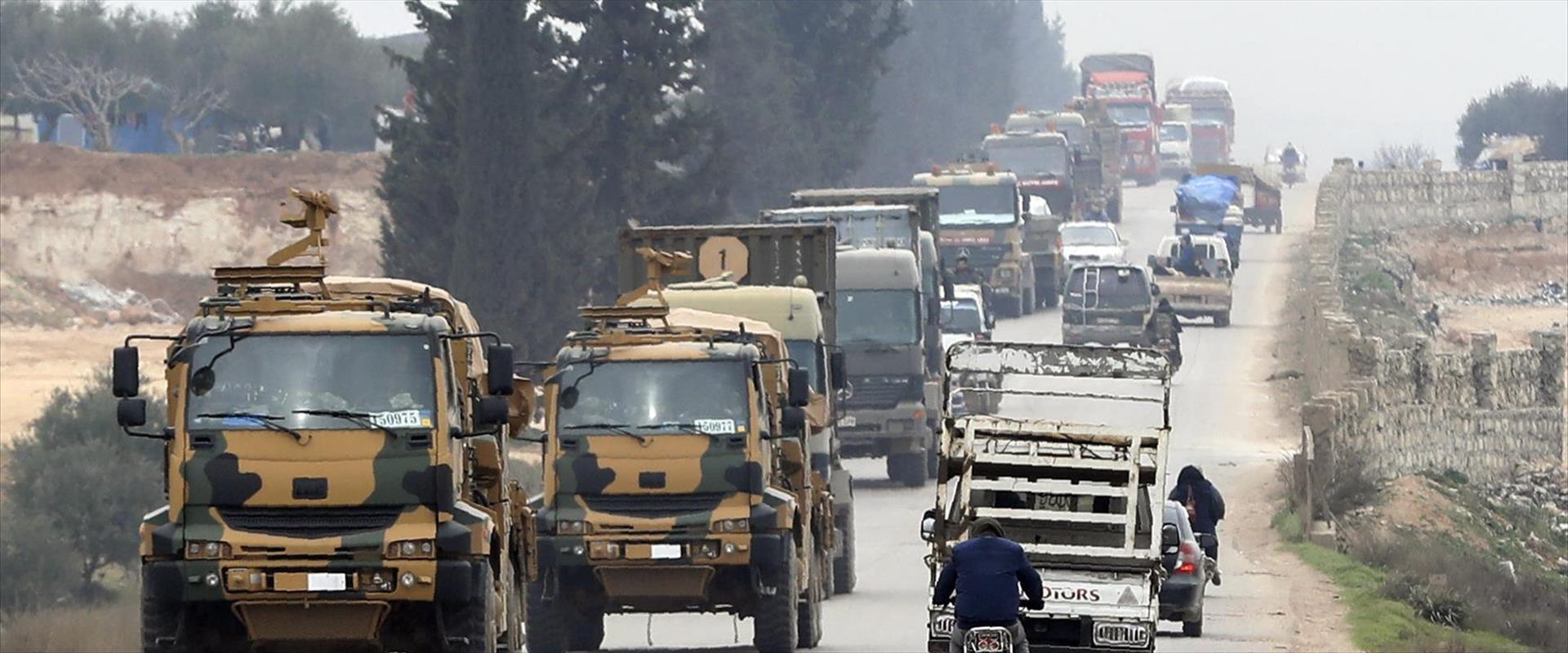 כוחות טורקיים באידליב שבסוריה