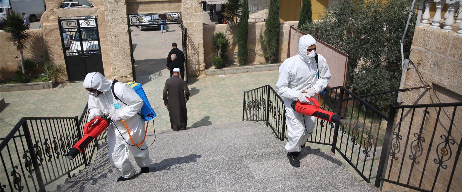 חיטוי מפני נגיף קורונה ברשות הפלסטינית