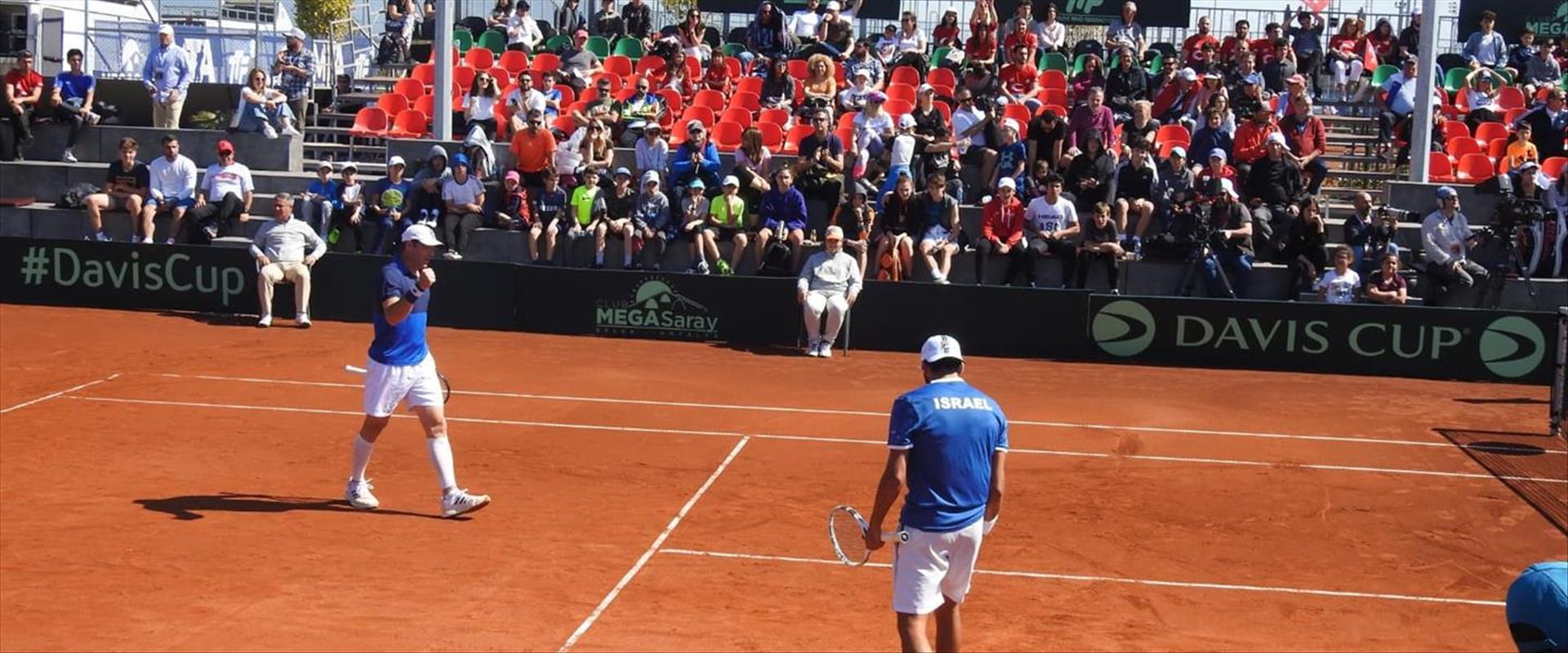 נבחרת ישראל בטניס גוברת על טורקיה