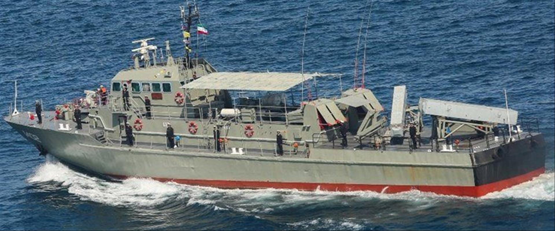 """אוניית המלחמה האיראנית """"קונראק"""" שנפגעה"""