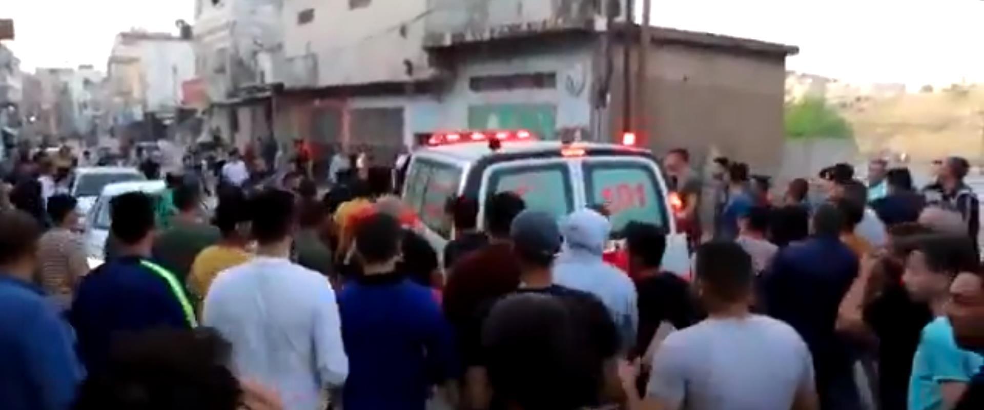 תיעוד פלסטיני מפינוי הפצועים