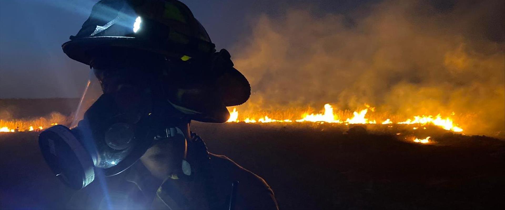 השריפה סמוך לאלעד