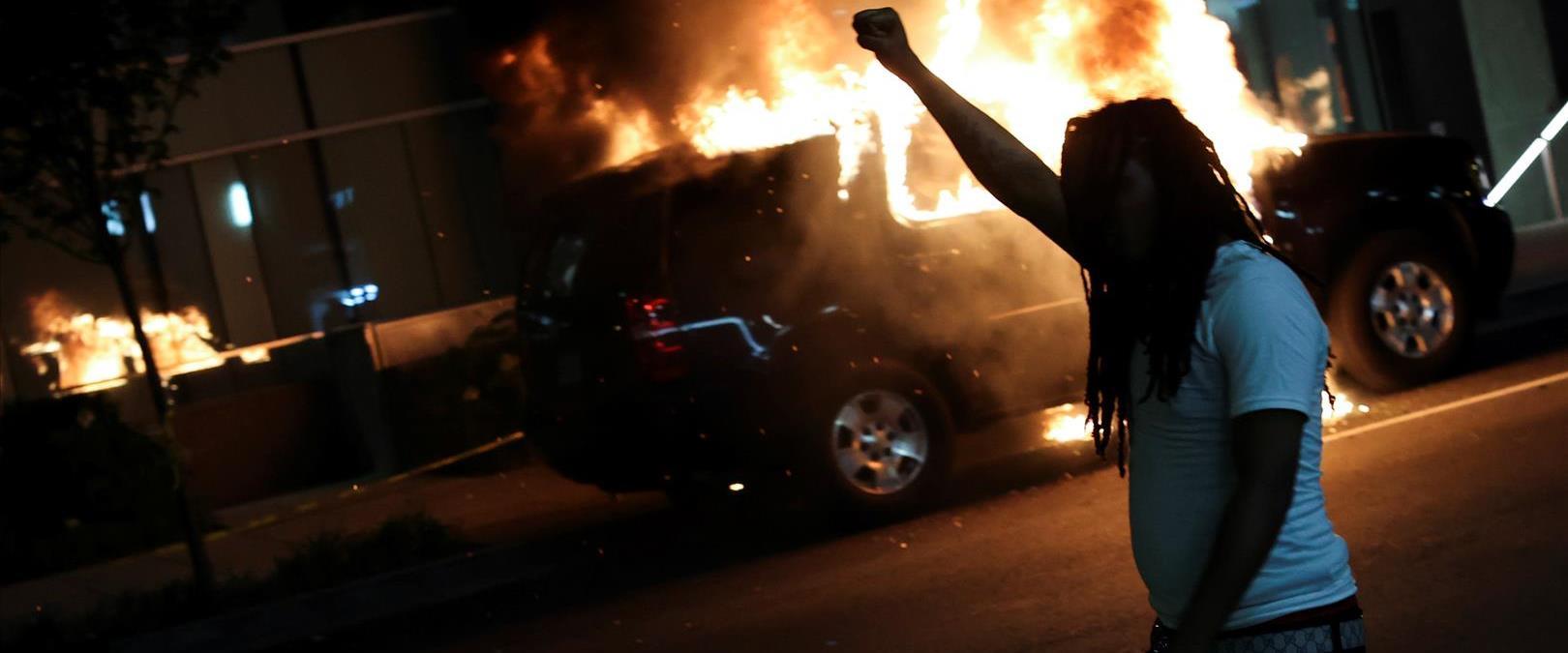 """המהומות בארה""""ב, הלילה"""