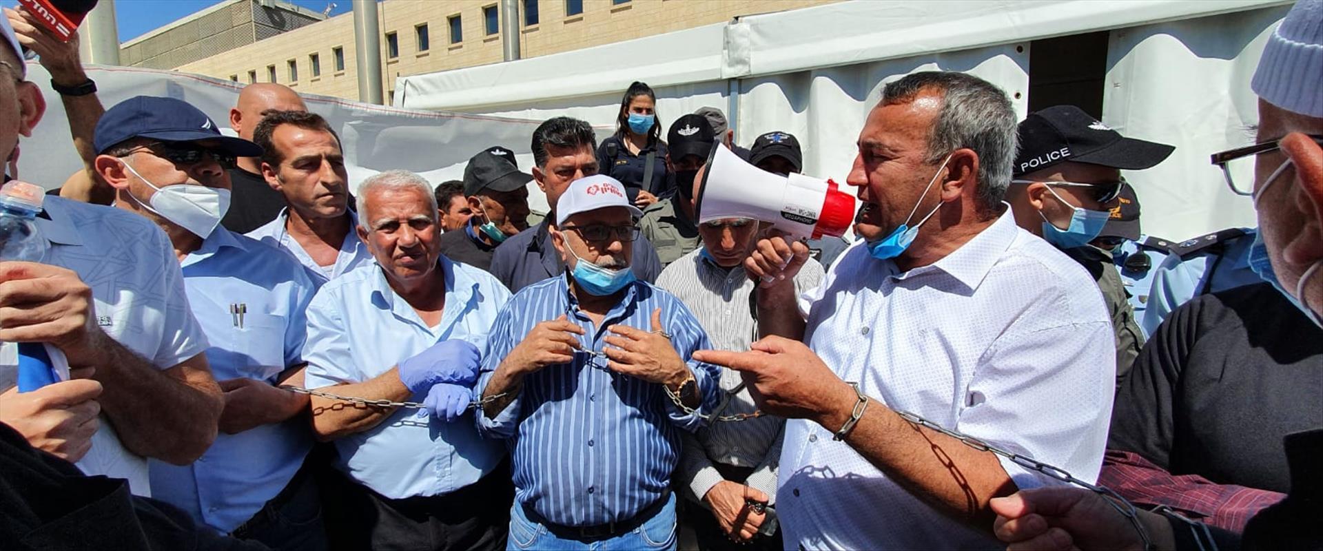 המחאה מול משרד החוץ