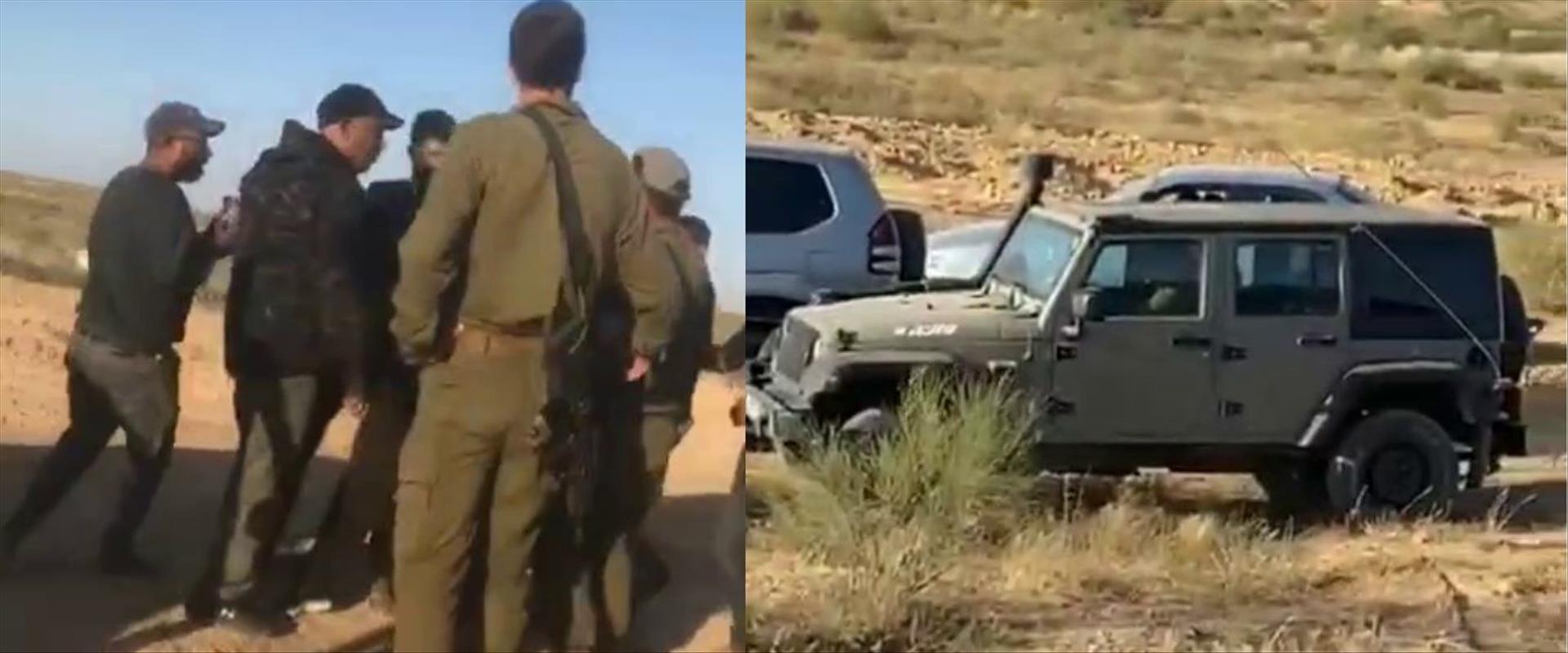 עימות בין חיילים לתושבים בדואים בבסיס צאלים
