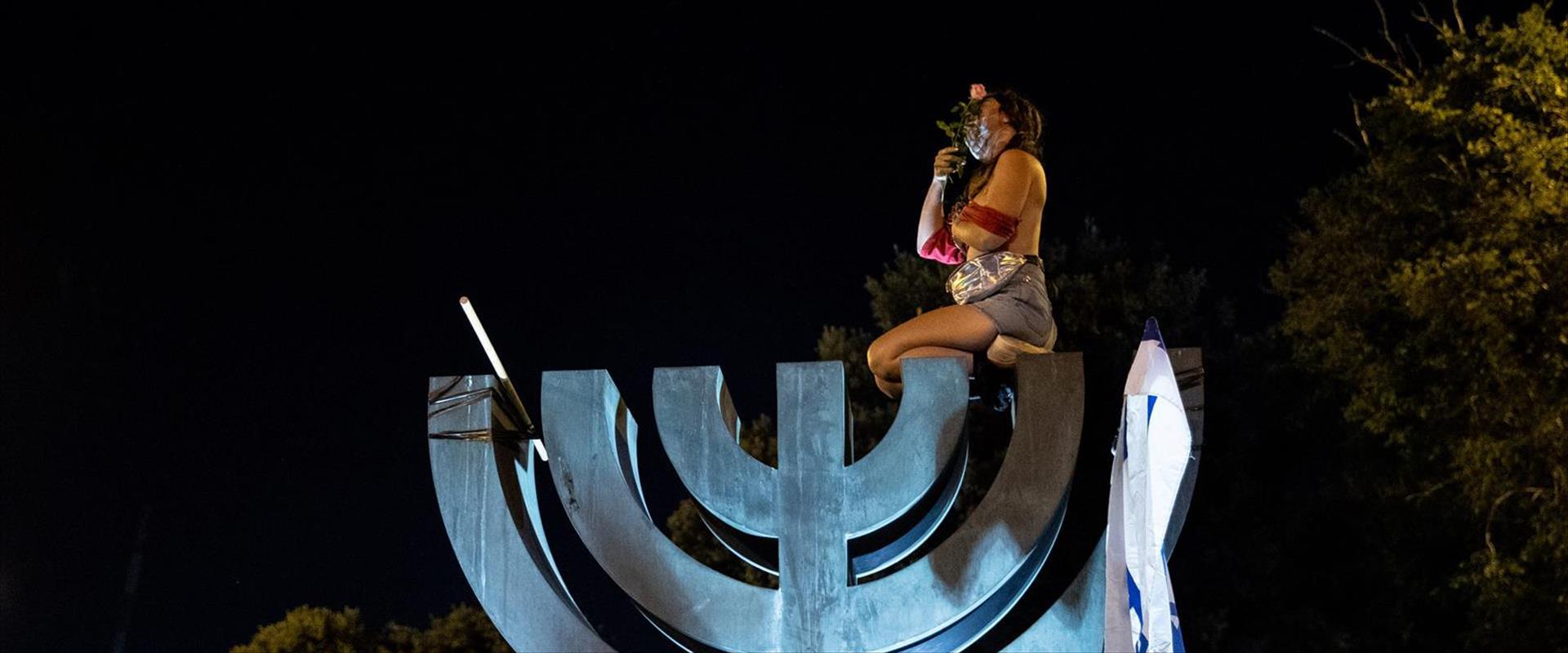 המפגינה, אמש בירושלים
