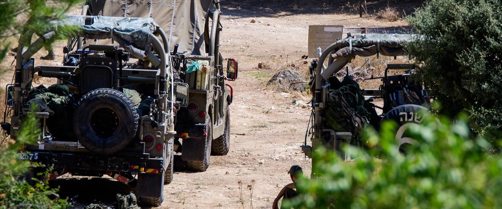 """כוחות צה""""ל ליד הגבול עם סוריה"""