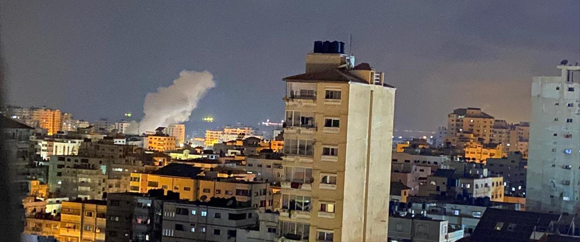 התקיפה הלילה ברצועת עזה, לפי כלי תקשורת פלסטיניים