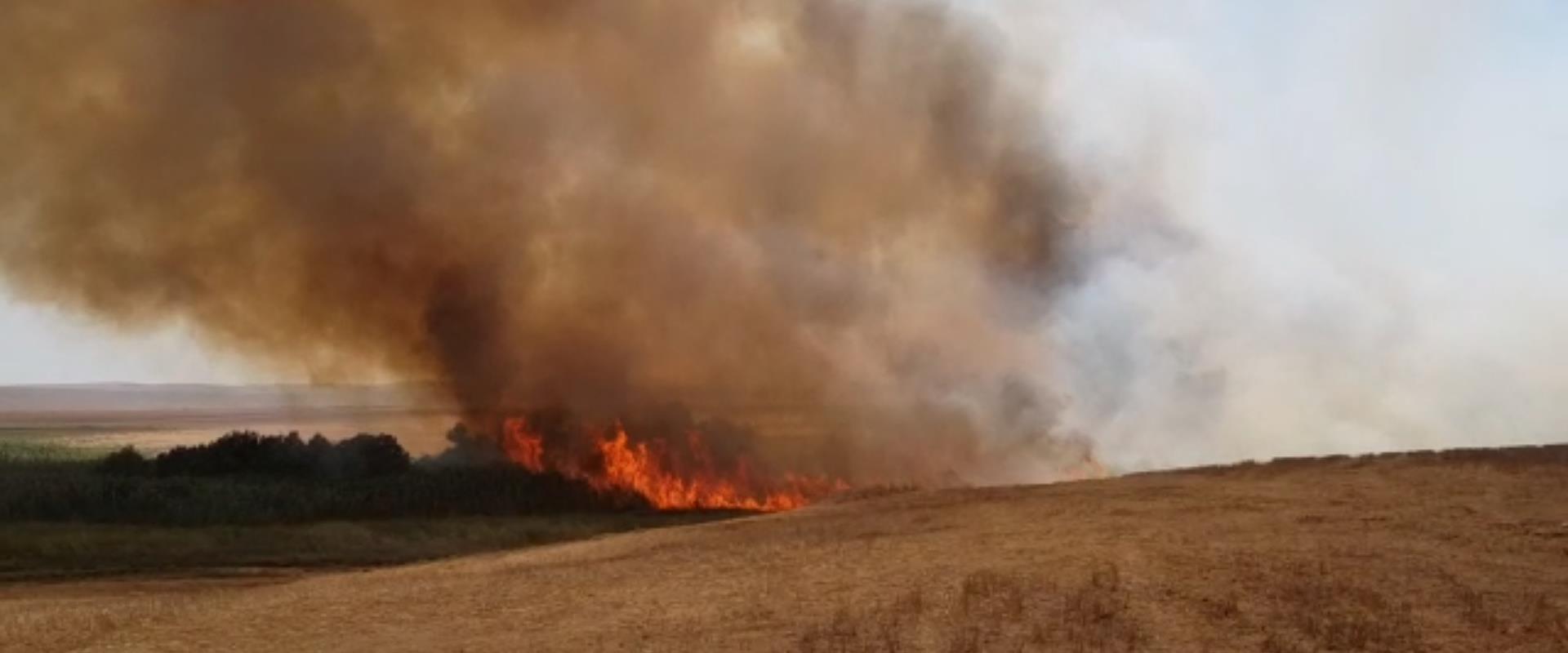 שריפה במועצה האזורית אשכול, היום