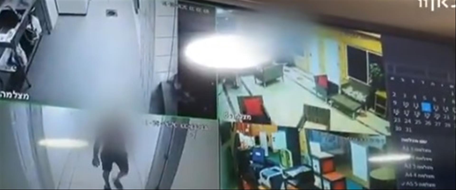 תיעוד ממצלמות האבטחה מהמלון שבו לפי  החשד נאנסה קט
