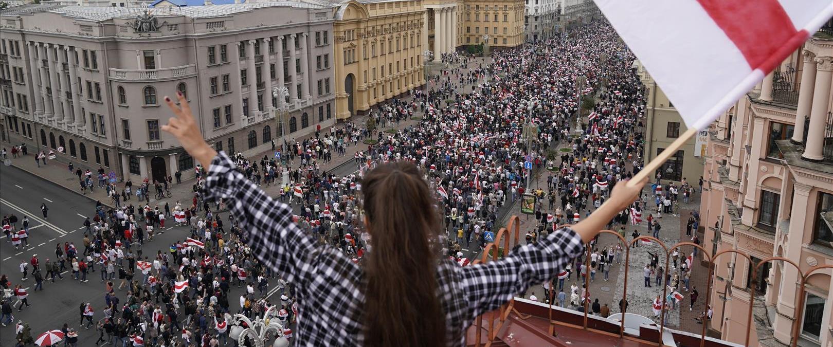 הפגנות במינסק - בירת בלארוס