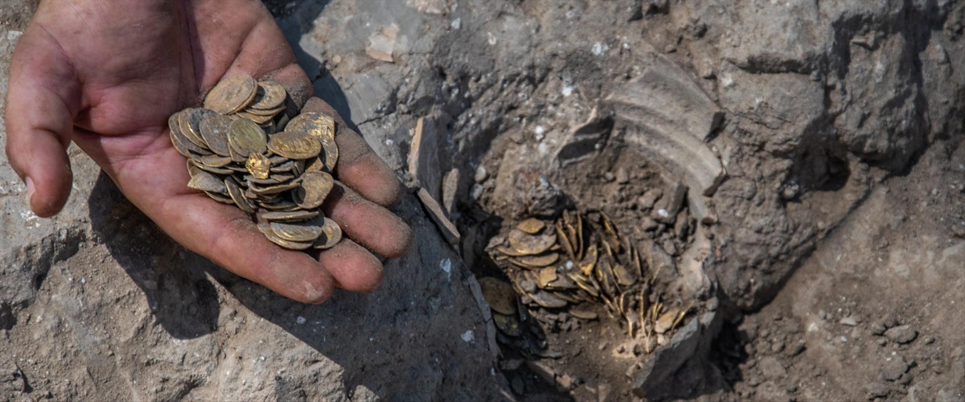 מטבעות הזהב שנמצאו במרכז הארץ