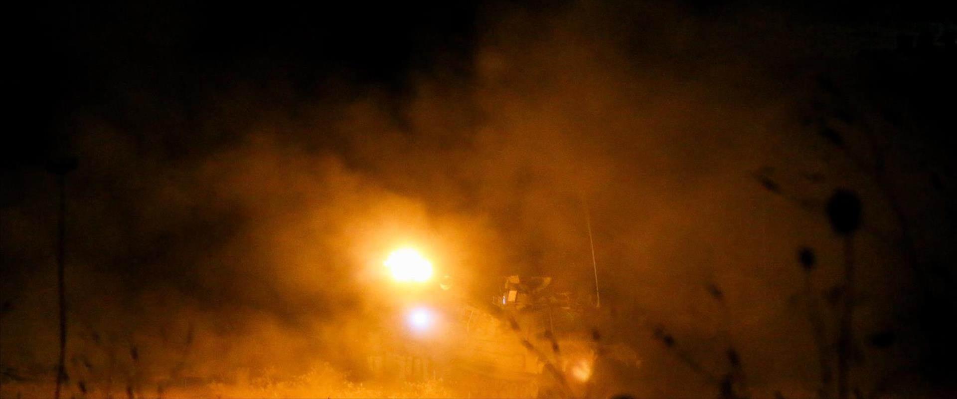 שיגור פצצות התאורה בגבול הצפון, שלשום