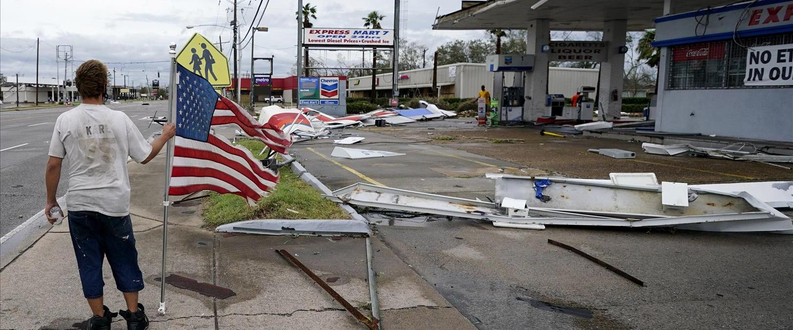 הסופה לורה בארצות הברית