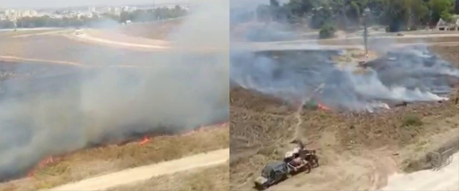שריפות באזור שער הנגב שבעוטף עזה, היום
