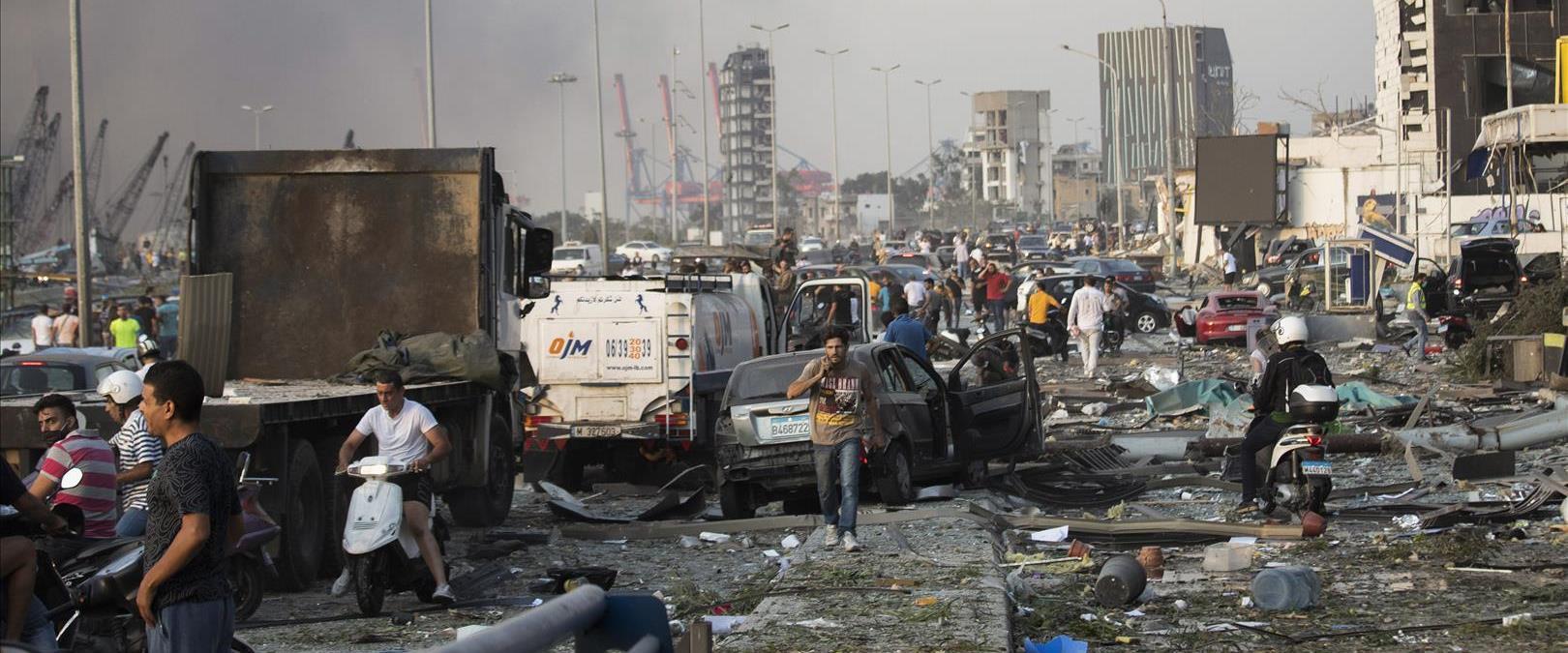 ביירות בפיצוץ