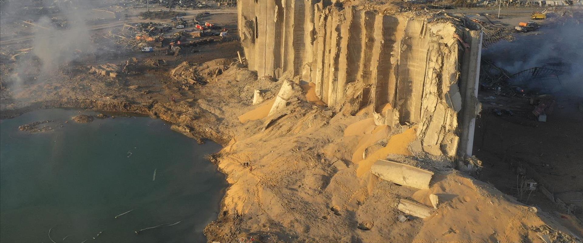 זירת האסון בנמל ביירות, אתמול