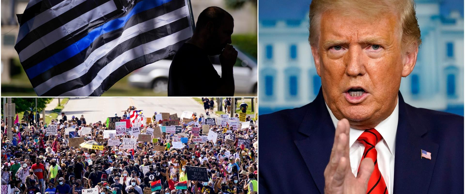 טראמפ והמחאה בקנושה