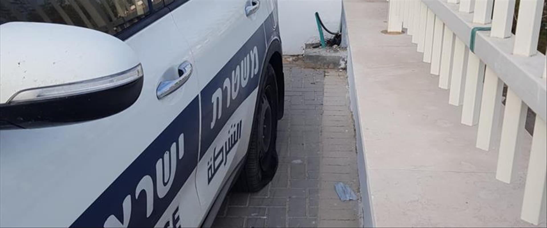 רכב משטרה שהושחת ביצהר