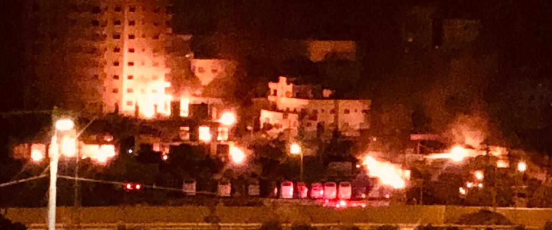 אש בכפר א-זעיים