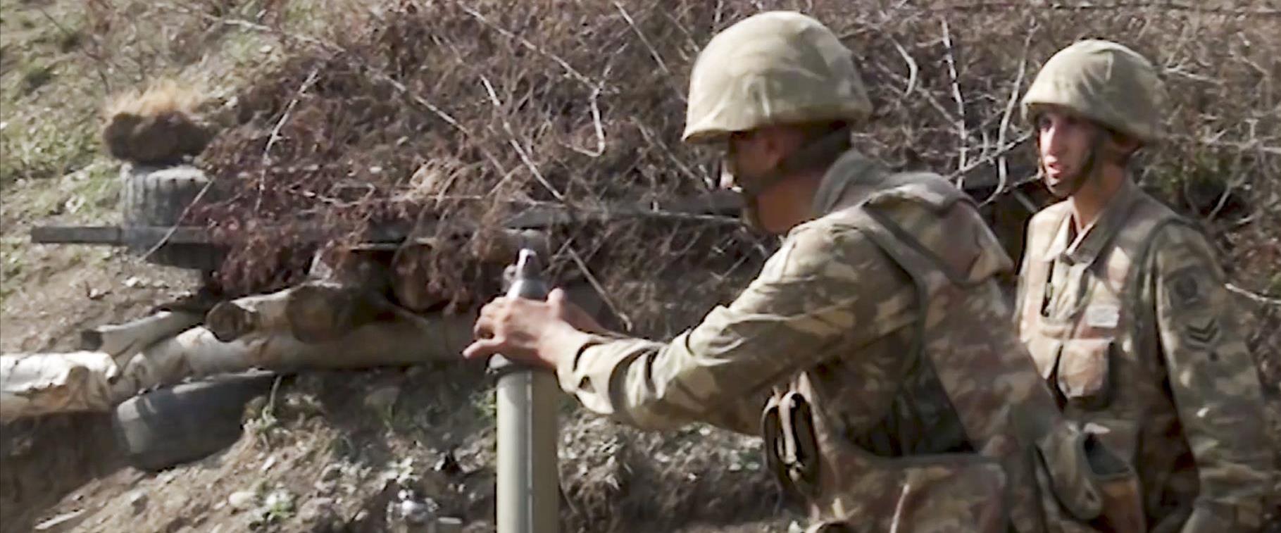 חיילים אזרים בקרבות בנגורנו-קרבאך, סוף ספטמבר 2020