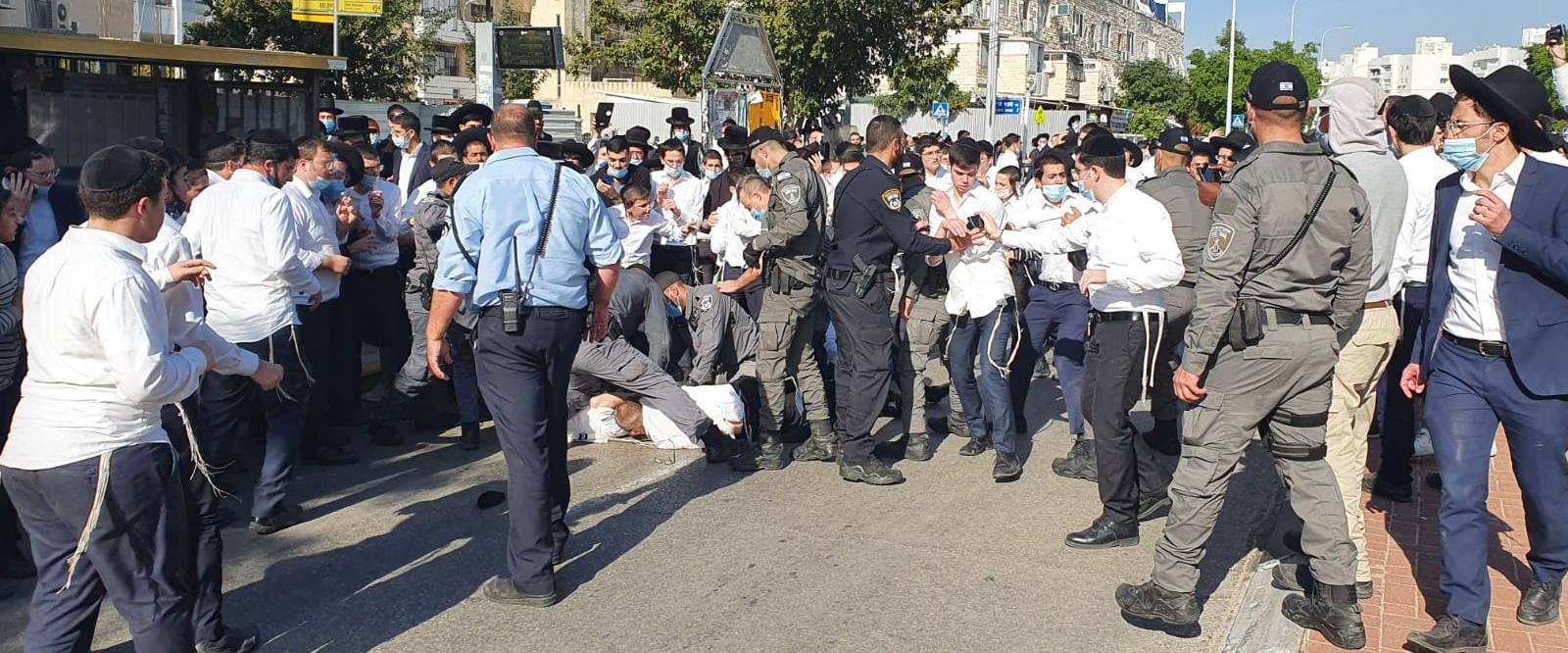 עימותים בין אנשי הפלג ירושלמי לשוטרים באשדוד