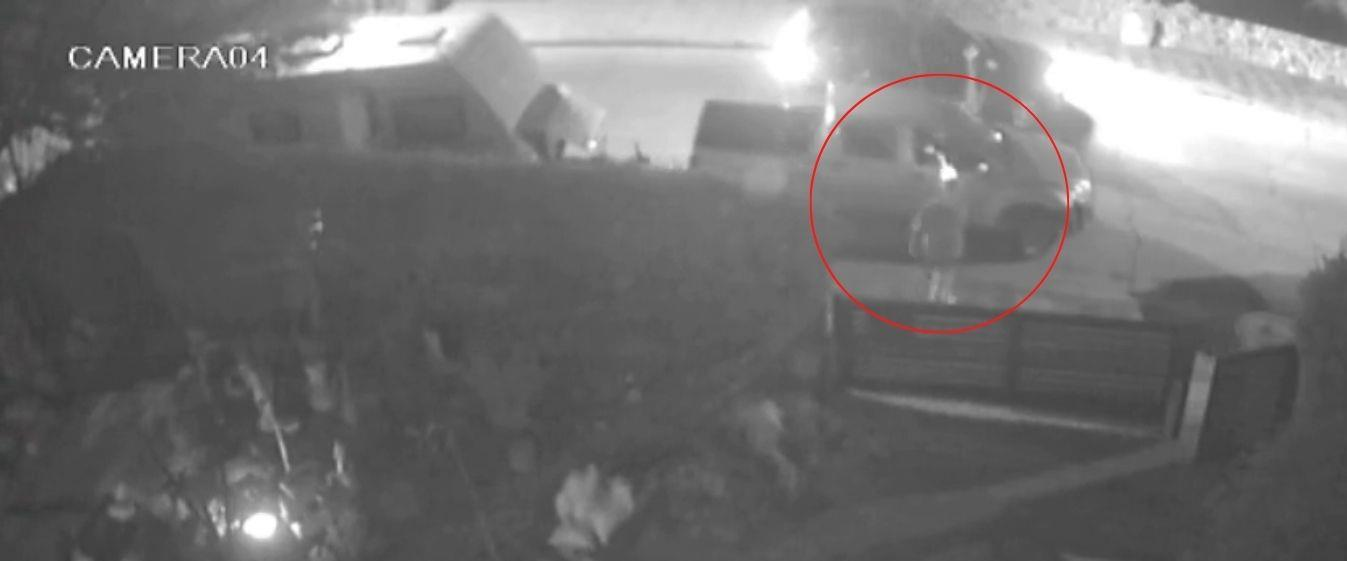 תיעוד: אריה שיף יורה בגנב שפרץ לרכבו