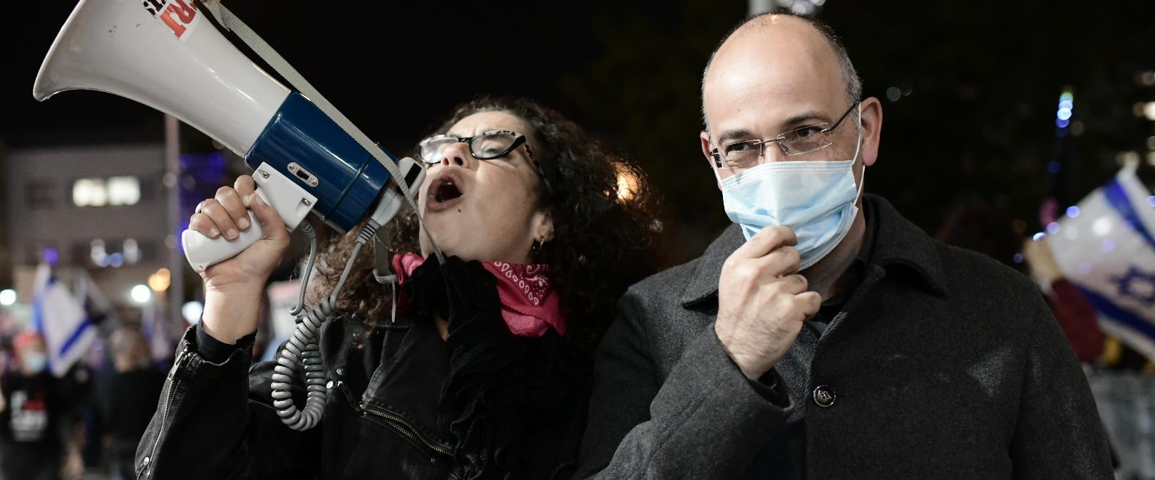 """פרופ' זליכה בהפגנה נגד רה""""מ נתניהו, 06.01.21"""