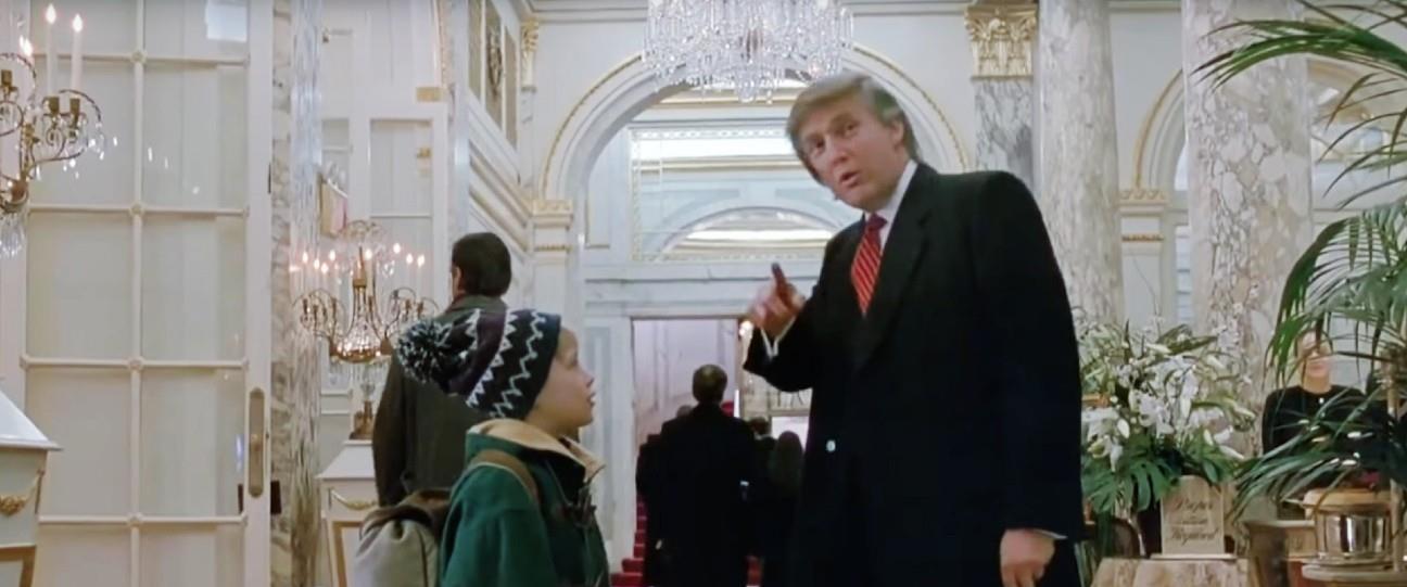 """טראמפ ומקאלקין מתוך """"שכחו אותי בבית 2"""""""