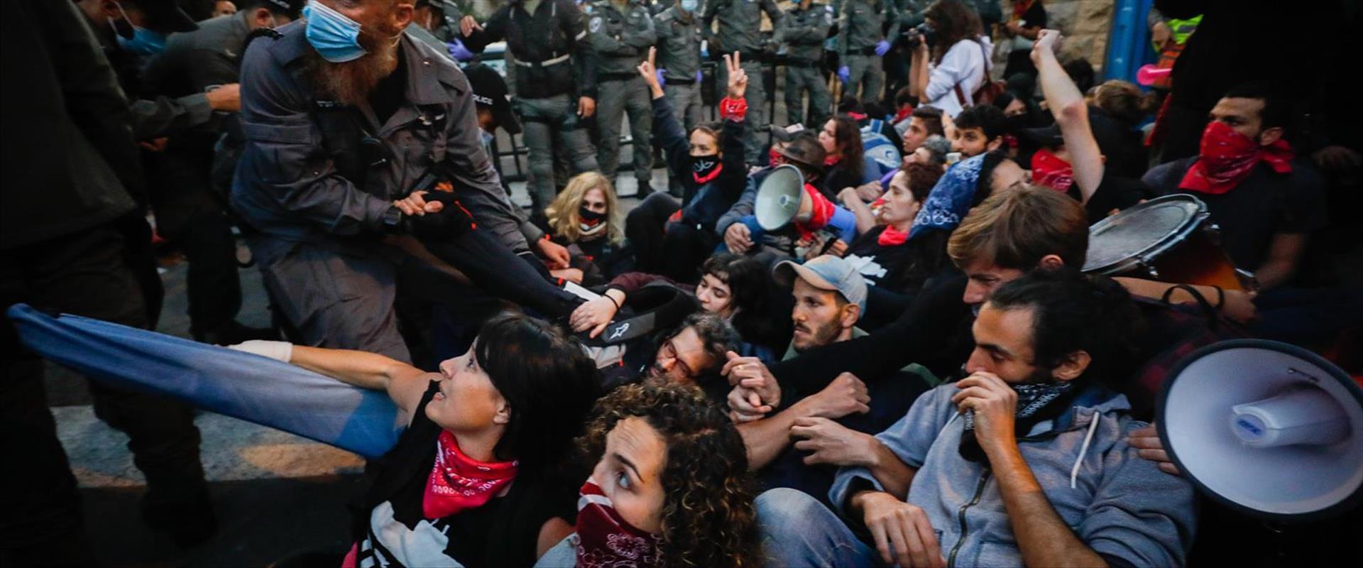 """המחאה מחוץ למעון רה""""מ בירושלים, היום"""