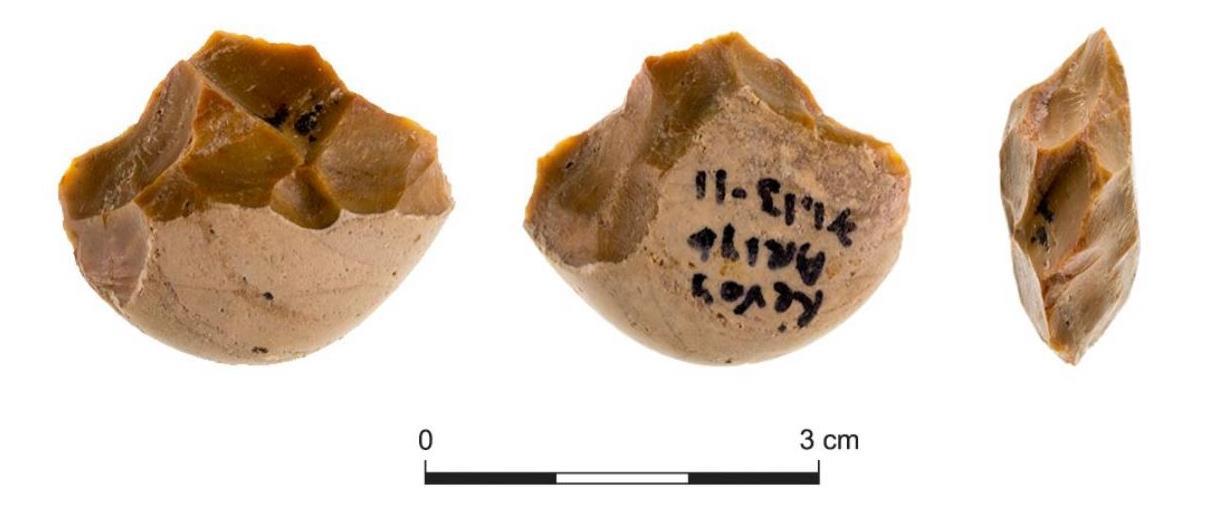 חלק מכלי האבן שנמצאו באתר הפרהיסטורי ברבדים