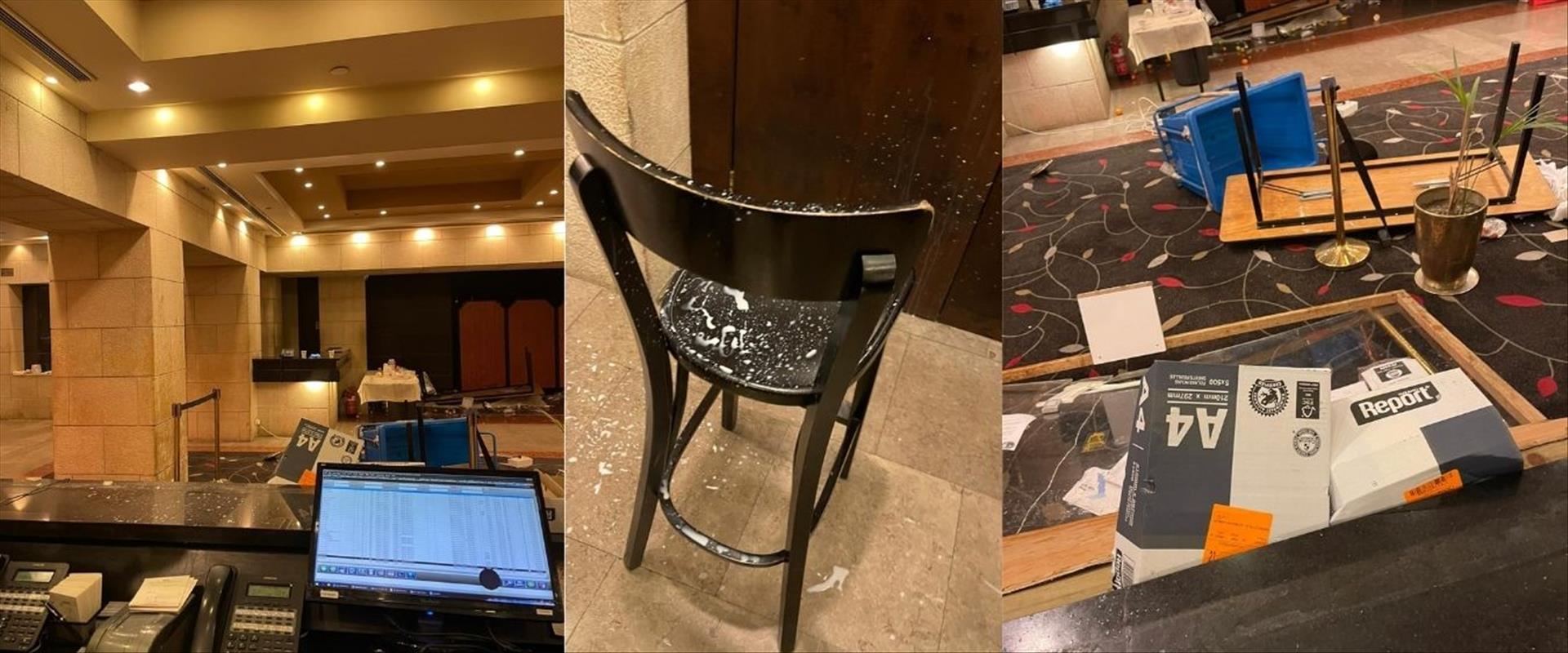 תיעוד: ישראלים ששבו מדובאי התפרעו במלון דן פנורמה