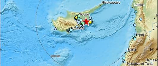רעידת אדמה בצפון קפריסין