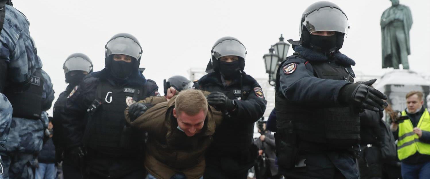 מעצר אחד המפגינים