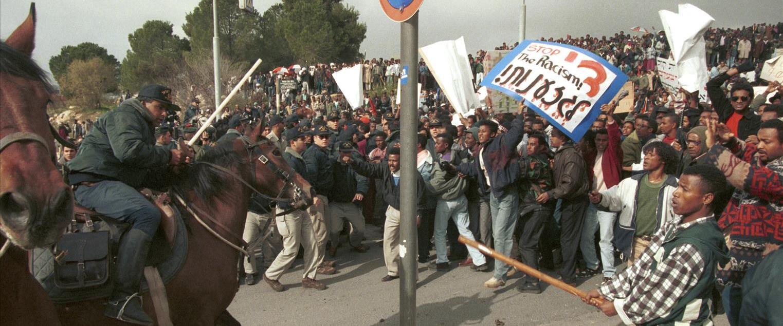 הפגנות על השמדת מנות הדם של עולי אתיופיה, 1996