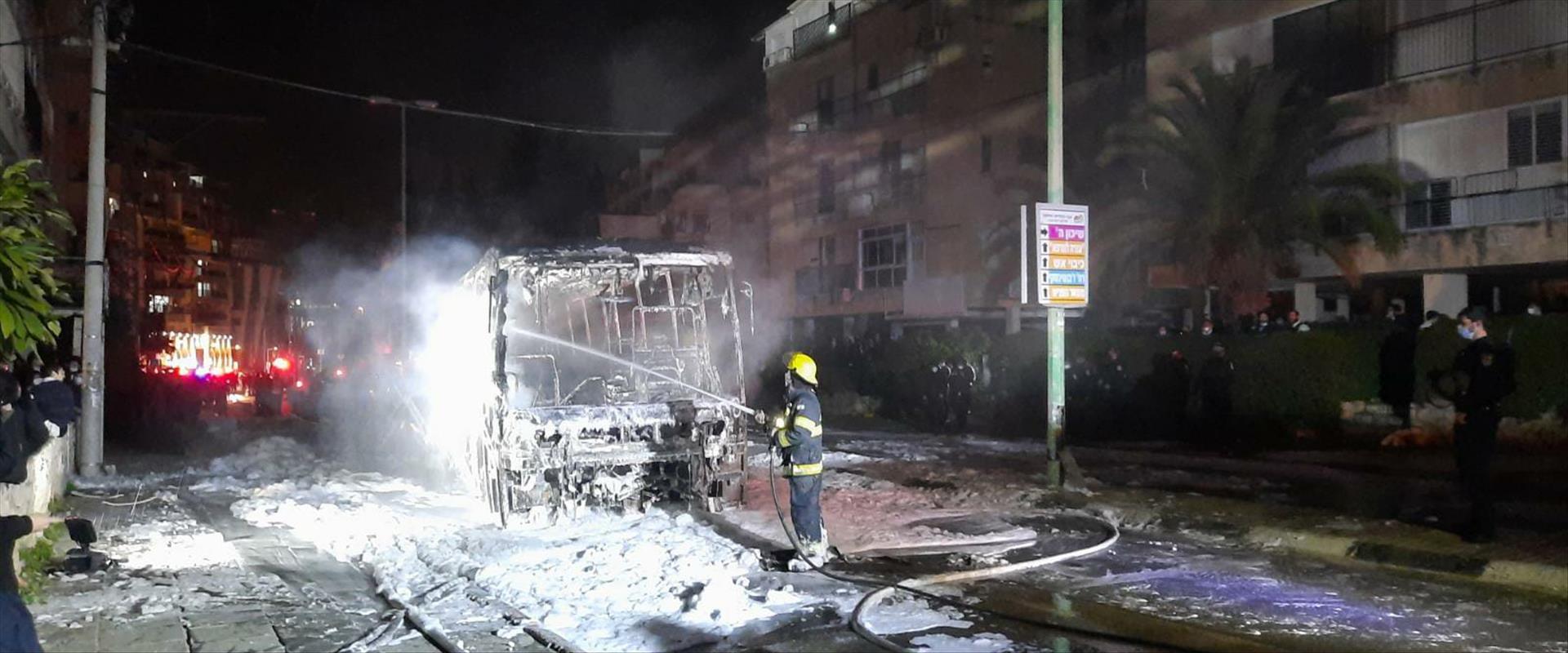 האוטובוס שנשרף בבני ברק