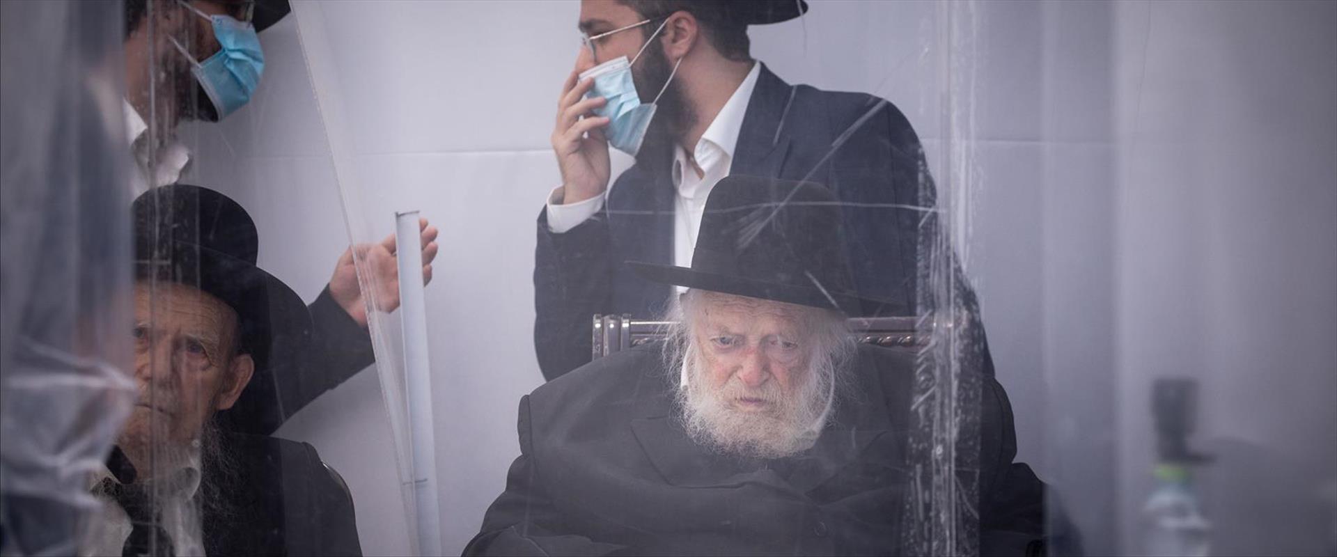 הרב קניבסקי בפגישה בבני ברק, דצמבר 2020
