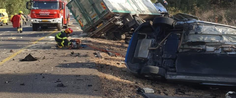 حادث تصادم قرب حيفا