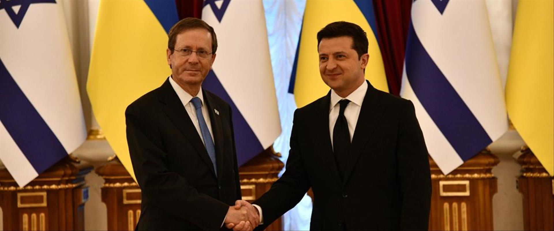 הנשיא הרצוג ונשיא אוקראינה וולודימיר זלנסקי