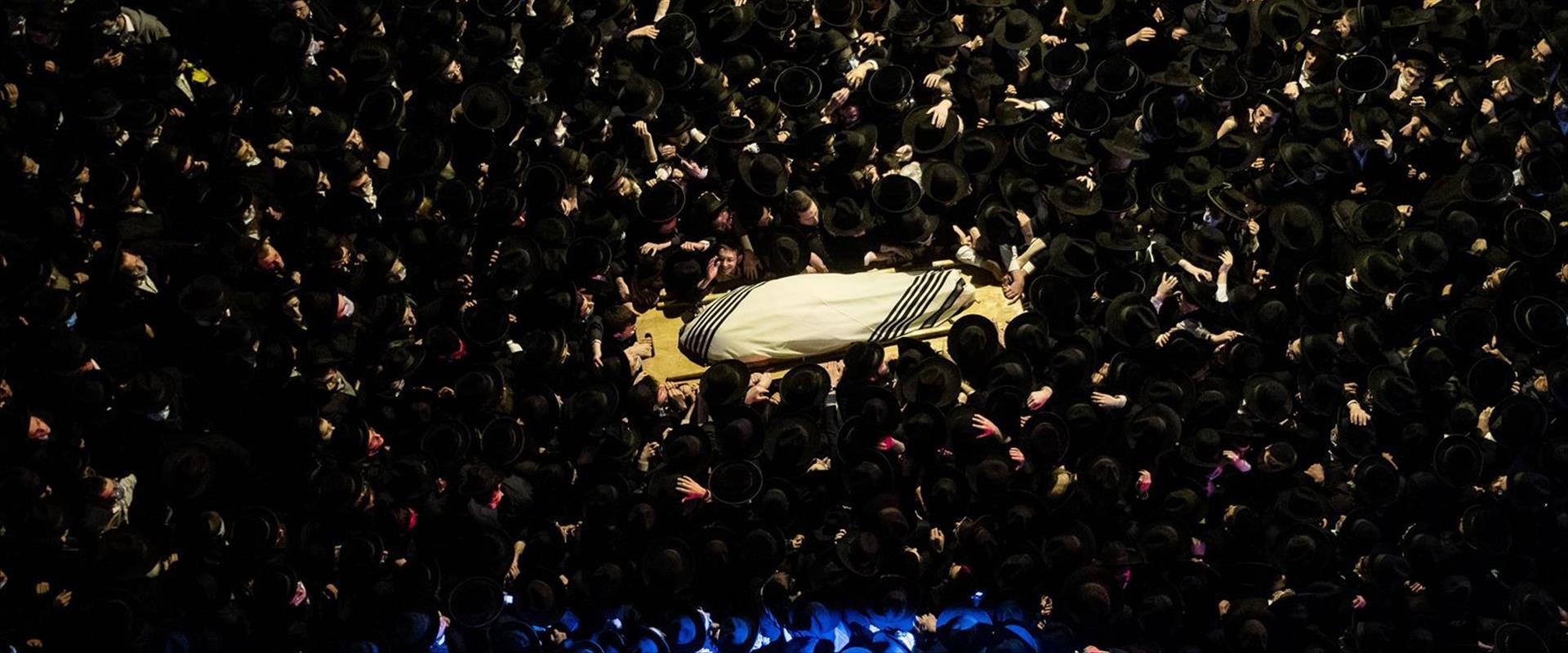 הלוויית רב חרדי בירושלים בזמן קורונה 31.01.21