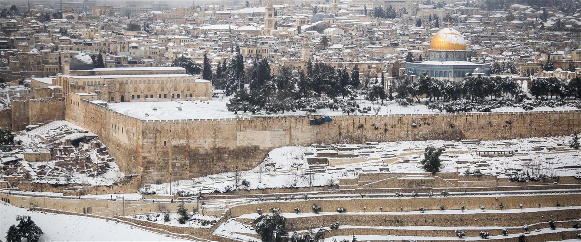 שלג בירושלים ב-2015