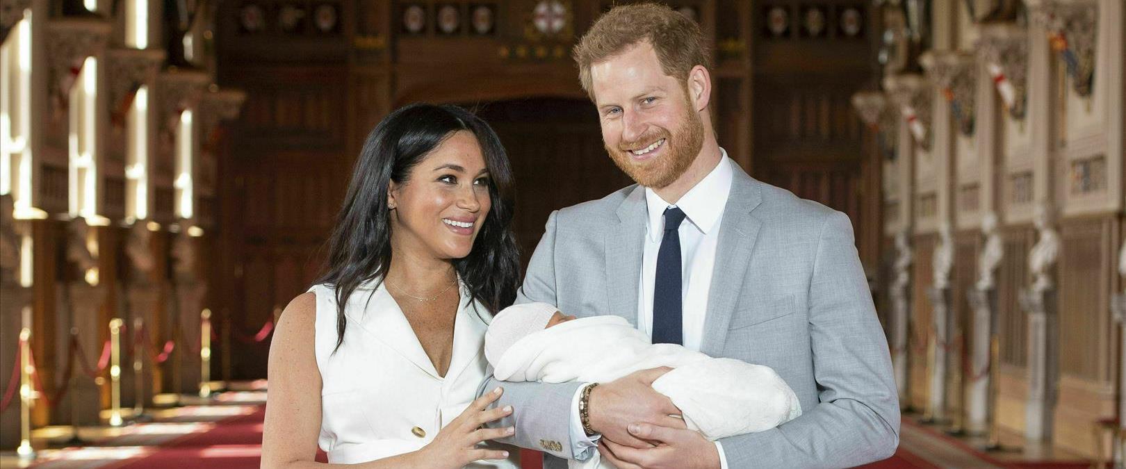 הארי ומייגן עם ארצ'י, הבן הראשון