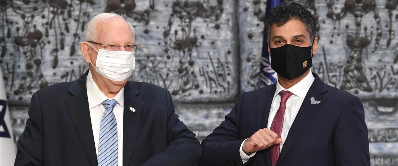 שגריר איחוד האמירויות בישראל והנשיא ריבלין