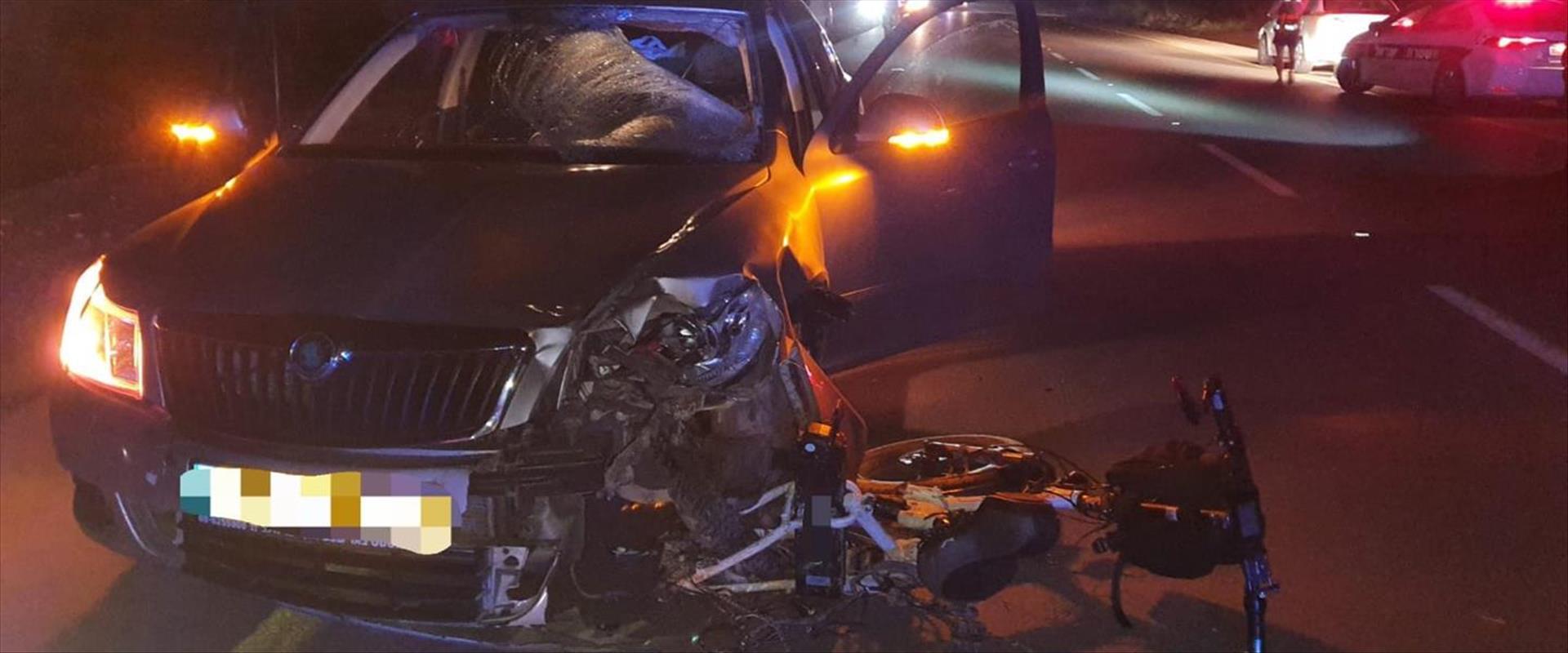 זירת התאונה בכביש 241 בדרום
