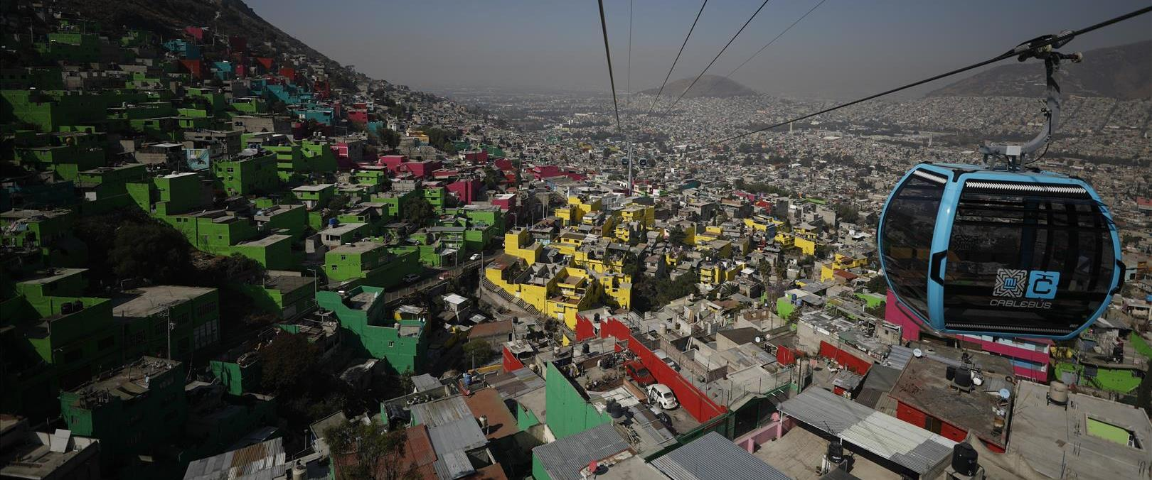 הרכבל החדש במקסיקו סיטי