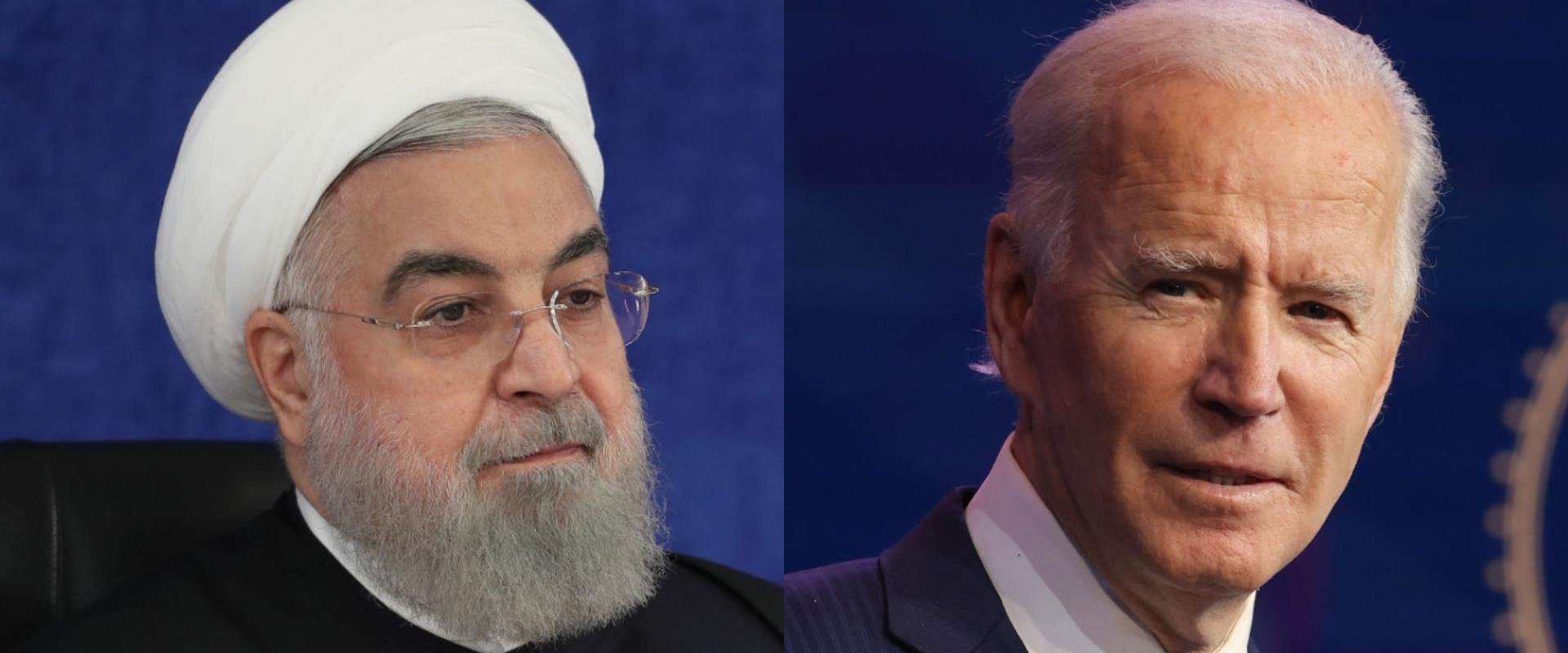 הנשיאים ביידן ורוחאני