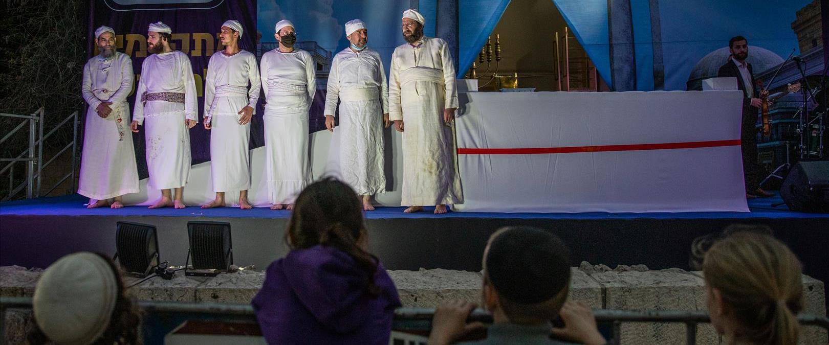 """אנשי תנועת המקדשים מבצעים """"הכנה"""" להקרבת קורבן בהר"""